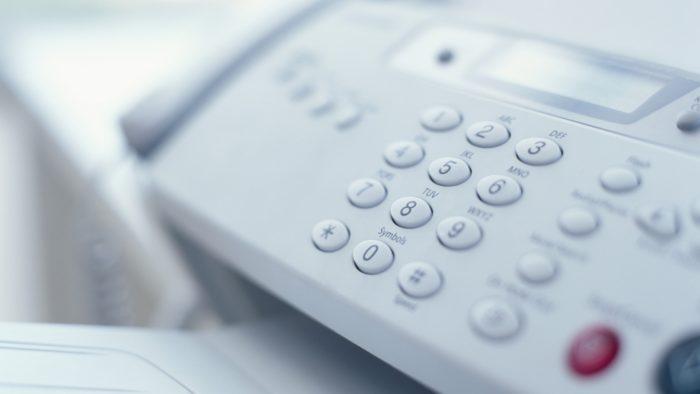 ファックス機器の必要がない